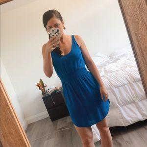 T. Babaton Silk Royal Blue Dress